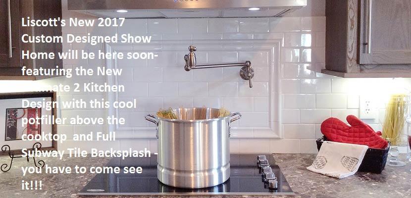 Liscott New 2017 Show Home- UK2 Kitchen Package-Pot filler above cooktop