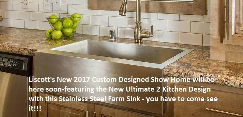 Liscott New 2017 Show Home- UK2 Kitchen Package-Stainless Steel Farm Sink