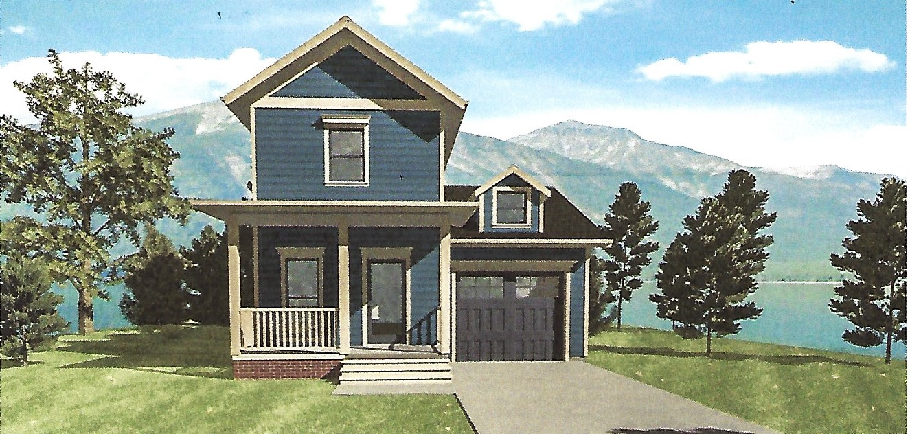 The lizzie two story narrow lot design liscott custom for Exterior 2 story homes